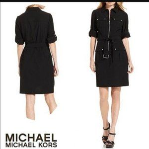 Micheal Kors black dress with belt